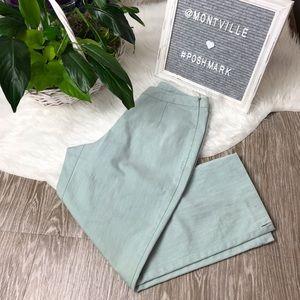 J Jill Stretch Green Side Zip Capris Size 2 Petite
